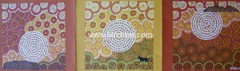 Dawn, Day, Dusk - Bindi Lee Australian Indigenous Artist