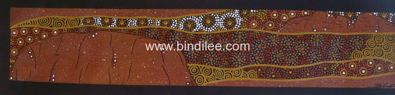 The Red Centre - Bindi Lee Australian Indigenous Artist