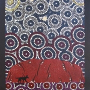 Changing Colours of Uluru - Bindi Lee Australian Indigenous Artist