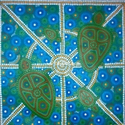 Fire Water Sky - 2 - Bindi Lee Australian Indigenous Artist